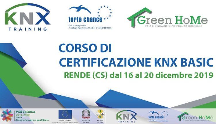 Corso certificazione KNX 16-20 dicembre