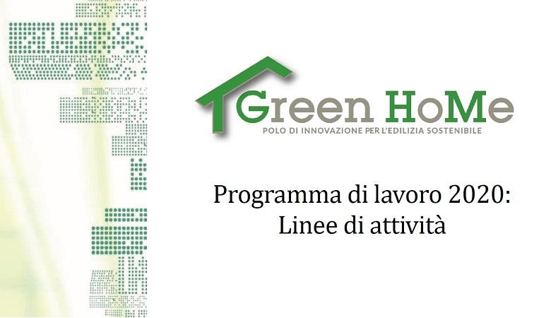 Green HoMe: Piano di lavoro 2020
