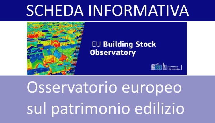 Osservatorio EU patrimonio edilizio