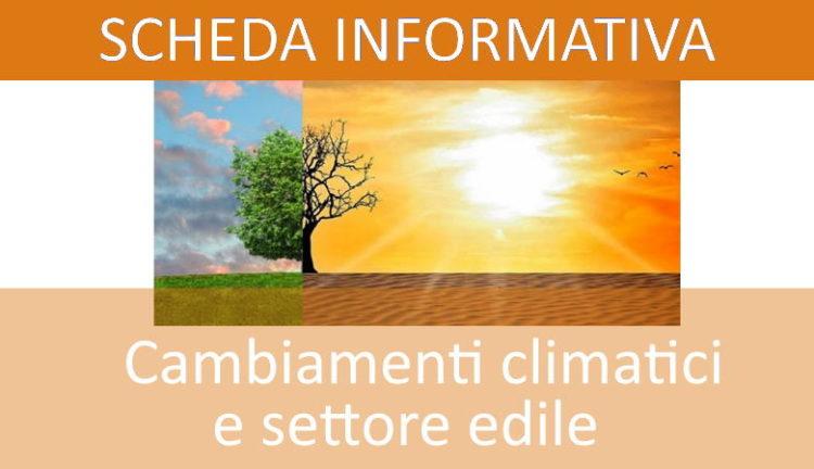 Cambiamenti climatici e il settore edile