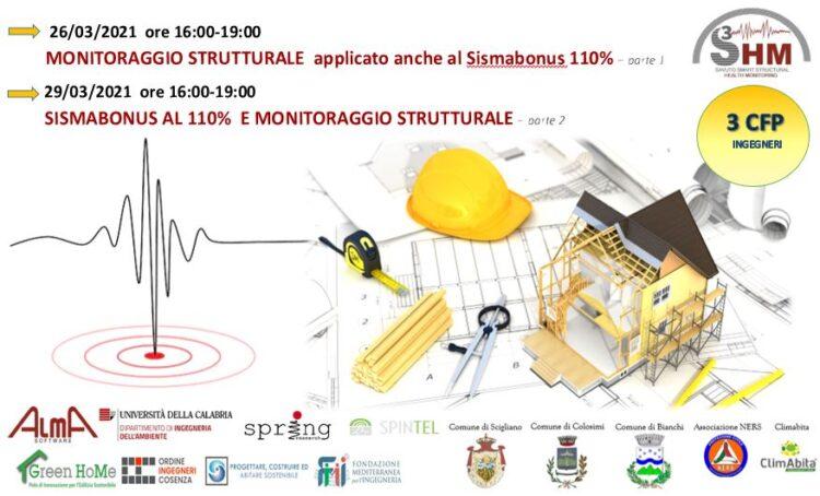 S3HM: Webinar Monitoraggio strutturale e Sismabonus 110%